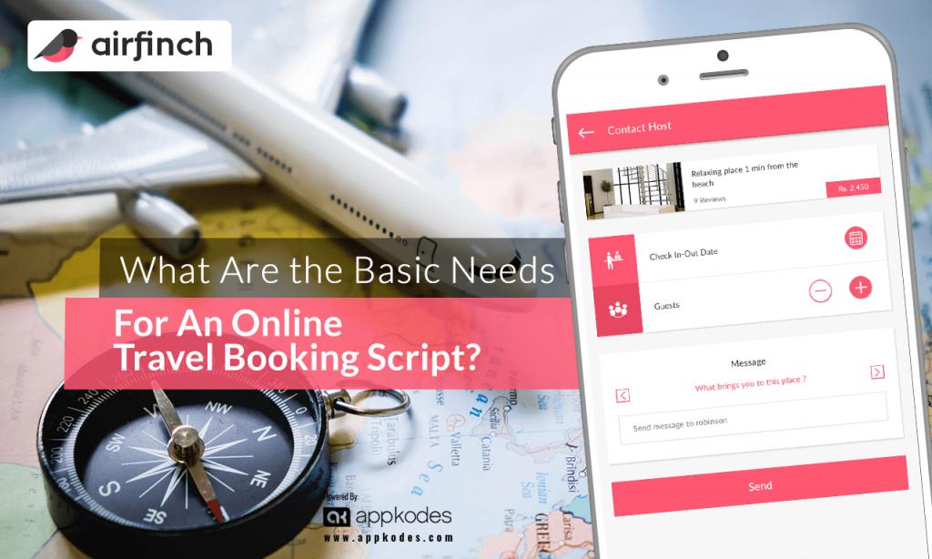online travel booking script