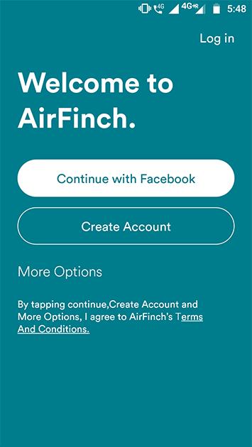 airbnb clone - app login