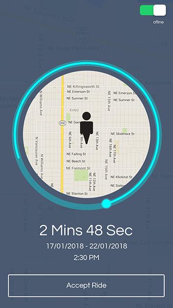 uber clone app driver ride