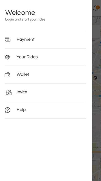 uber clone app navigation