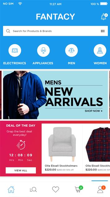 multi vendor ecommerce page design