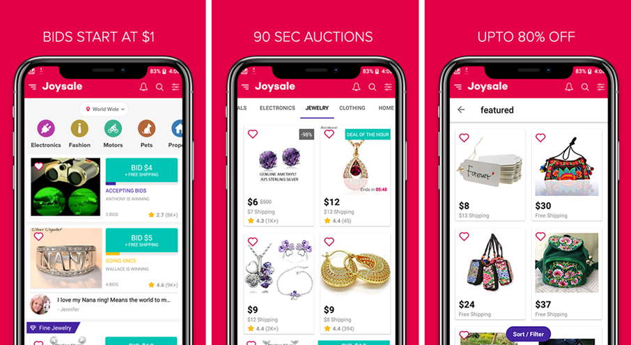 Auction Mobile Apps Using Joysale Script