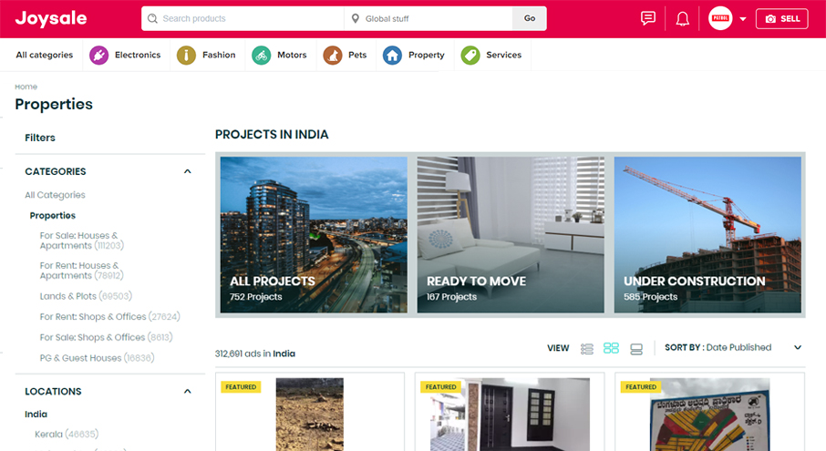 Real Estate Website Using Classified Script