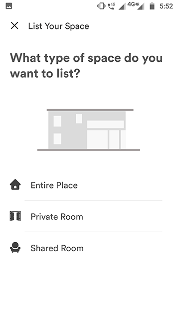 airbnb clone app list your place