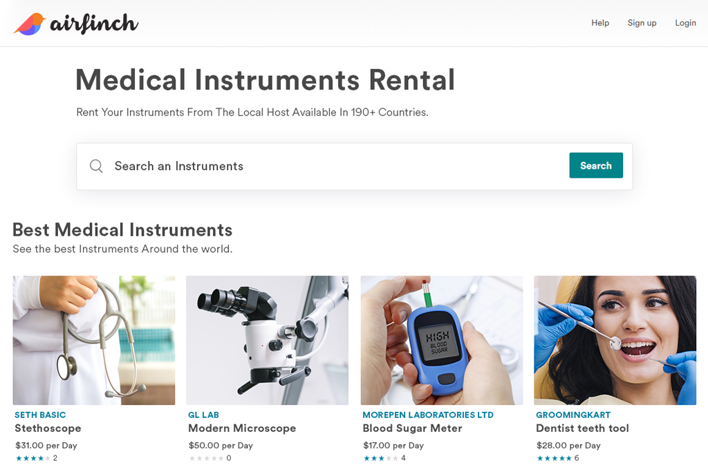 medical instruments rental script