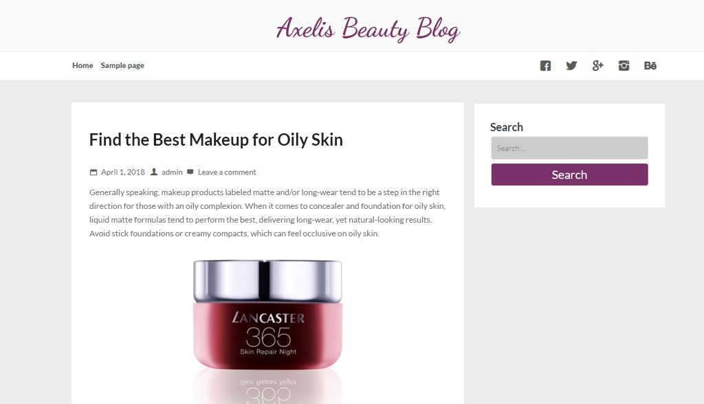 Blog shared by a beauty brand in cosmetics e-commerce platform