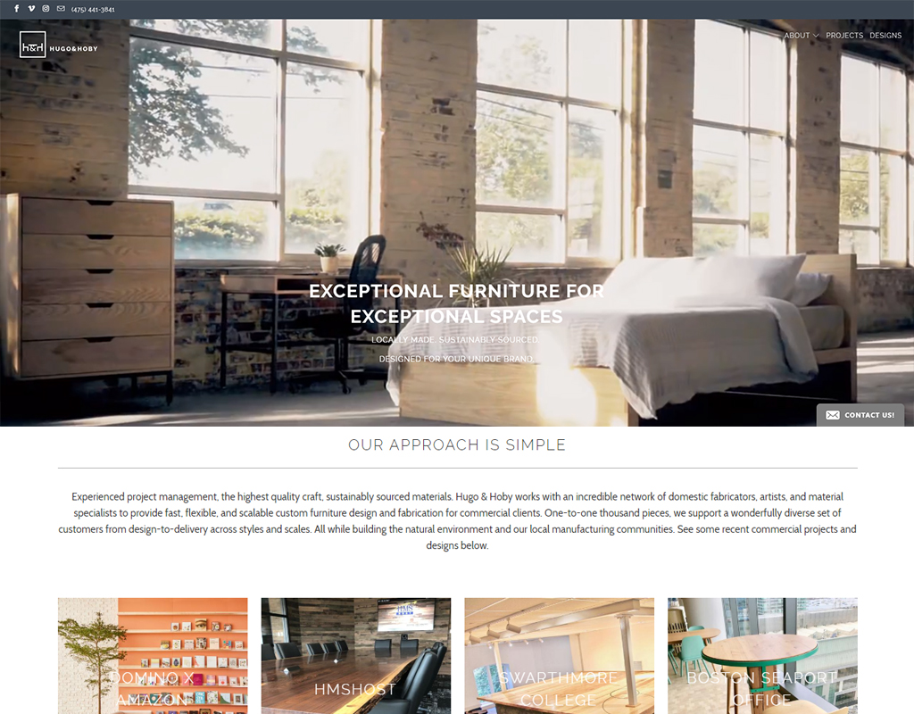 Hugo & Hoby furniture site