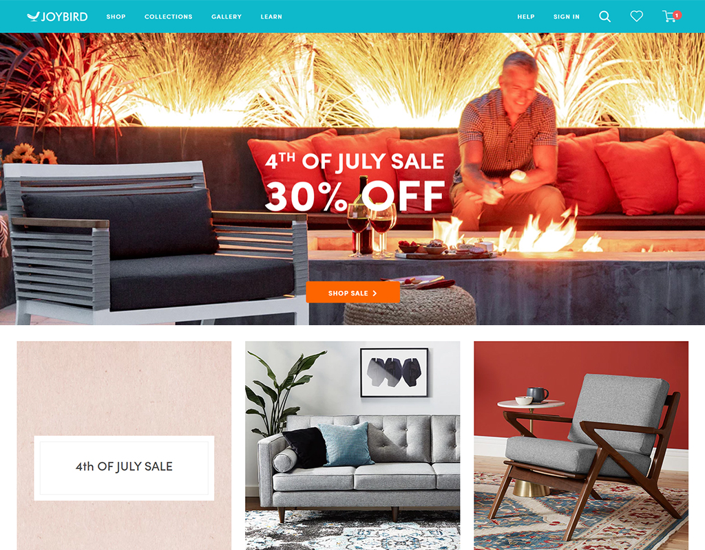 Joybird online furniture store