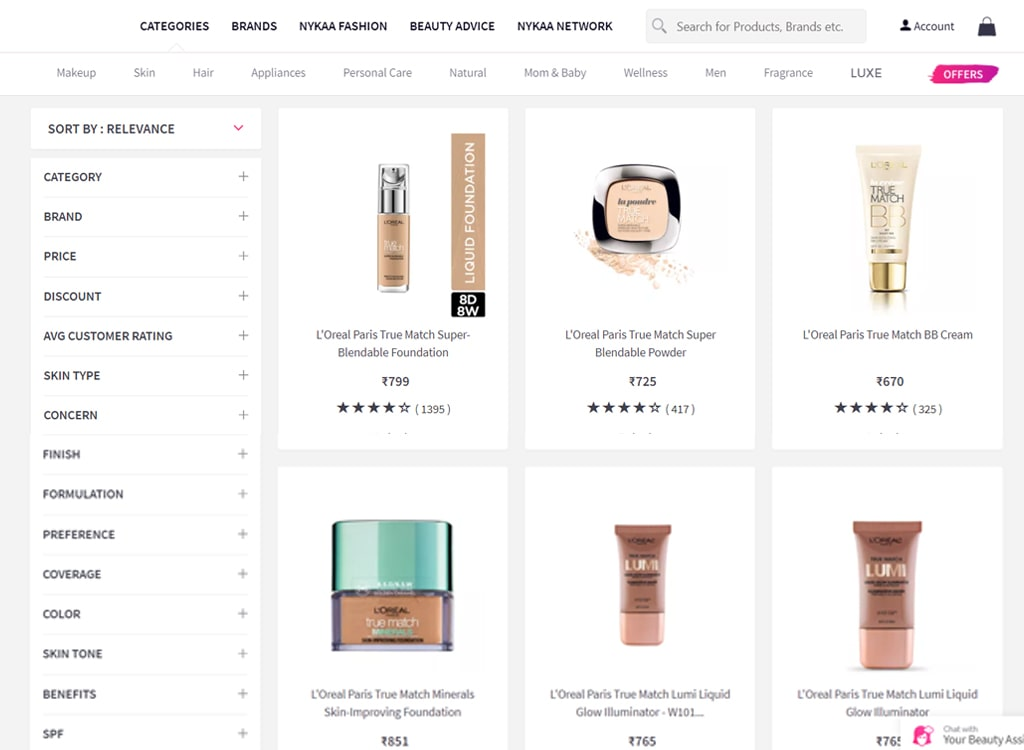 Multi-vendor cosmetics e-commerce platform built with an online cosmetics store script
