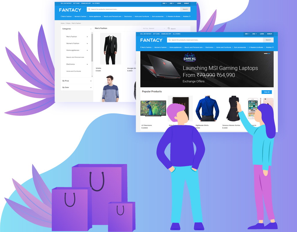 Online furniture platform with Fantacy multi-vendor ecommerce script