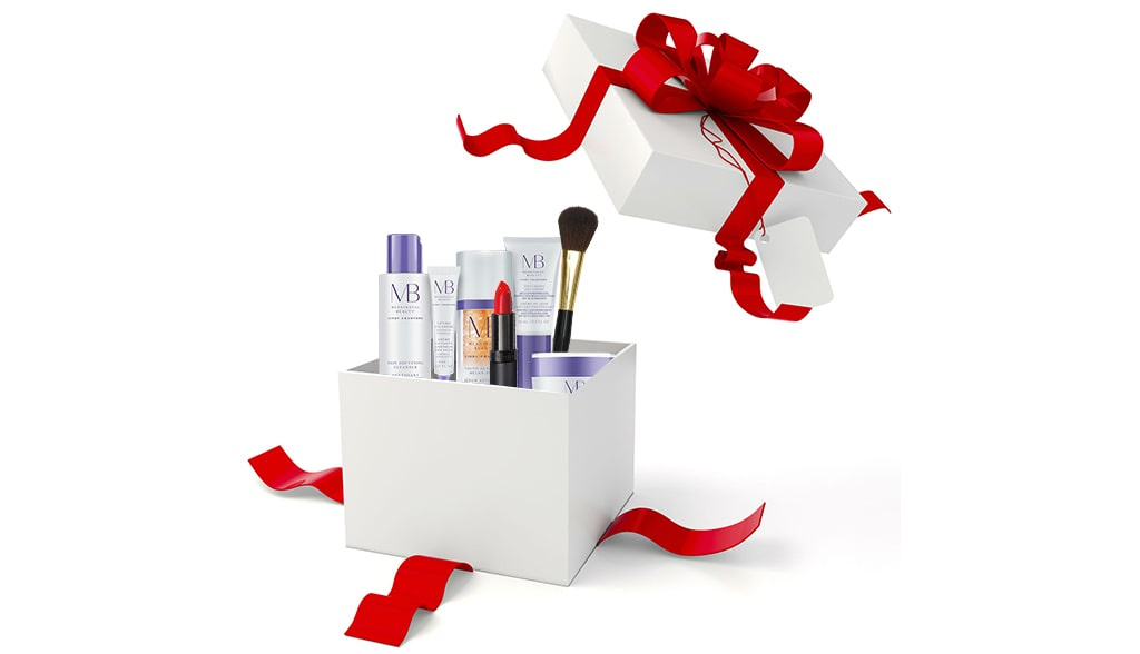 Surprise gift pack of cosmetic products