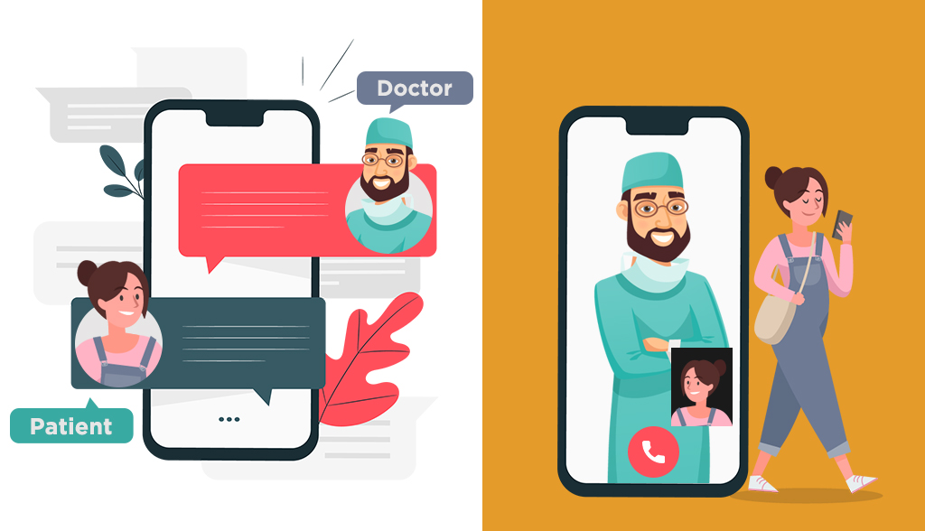 Messaging app for communication between doctors and patients