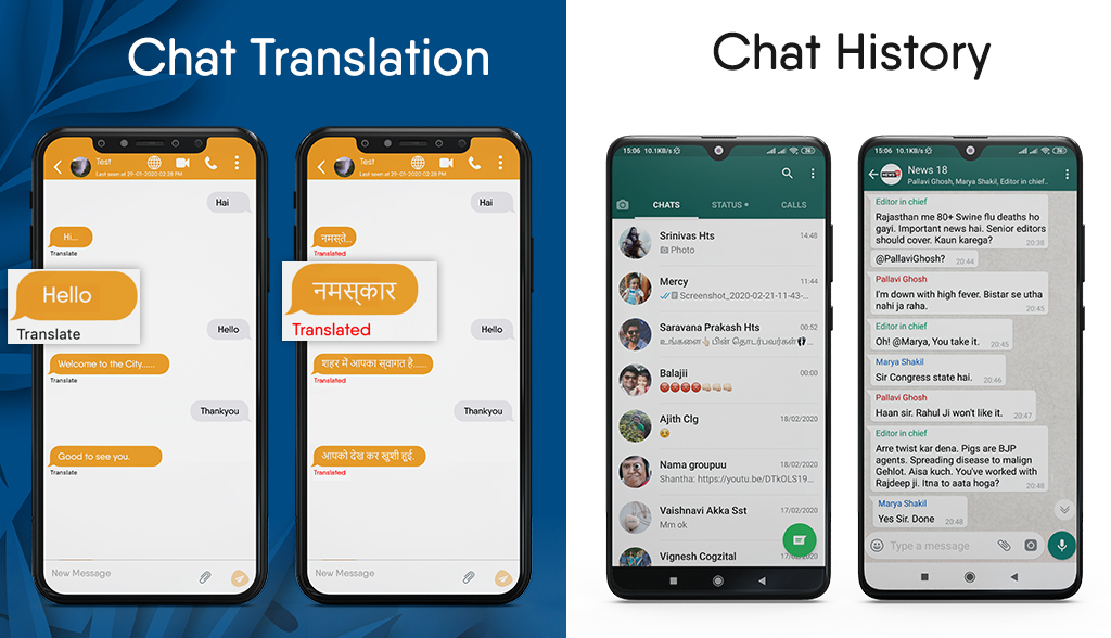 Chat translation and chat history