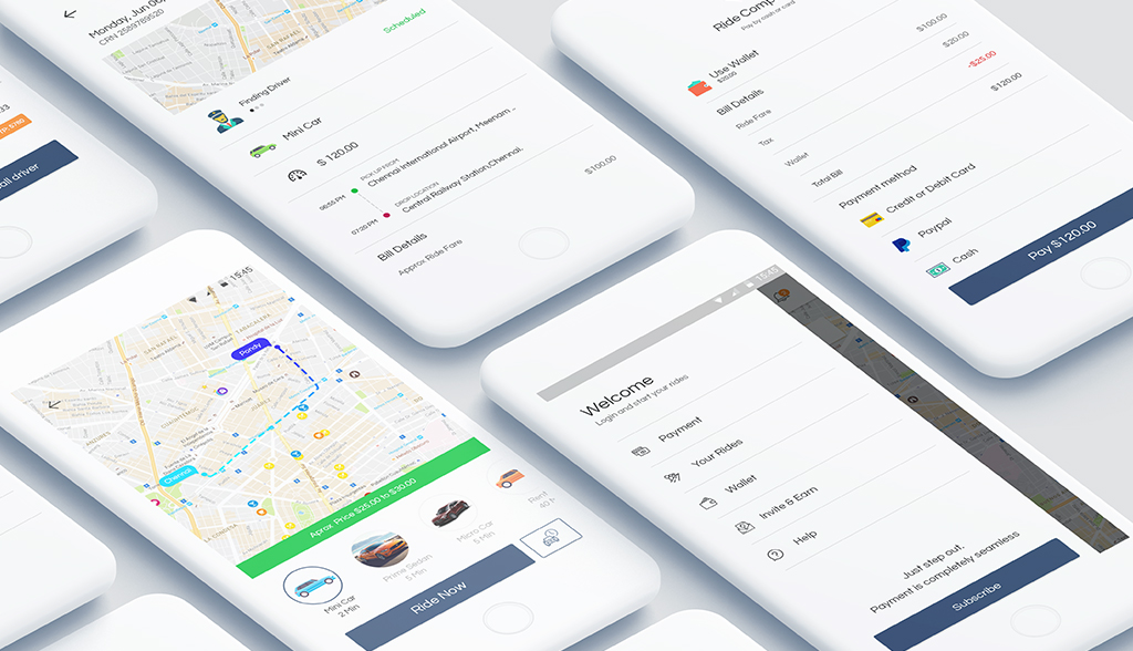 Full-featured taxi app