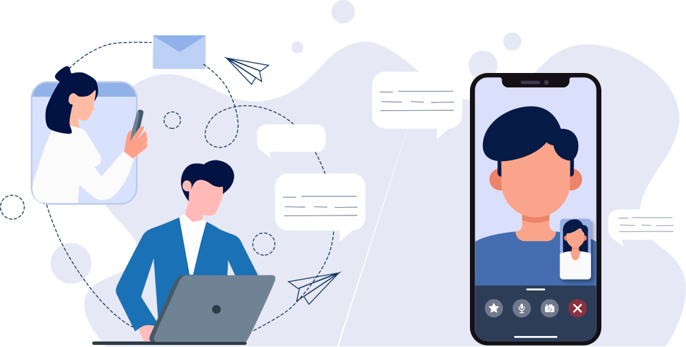 Business communicating effectively to its customers